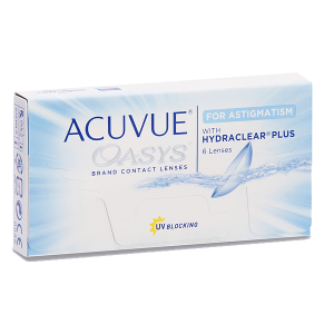 Eye doctor, box of AcuvueOasys For Asitgmatism contact lenses in Billings, MT